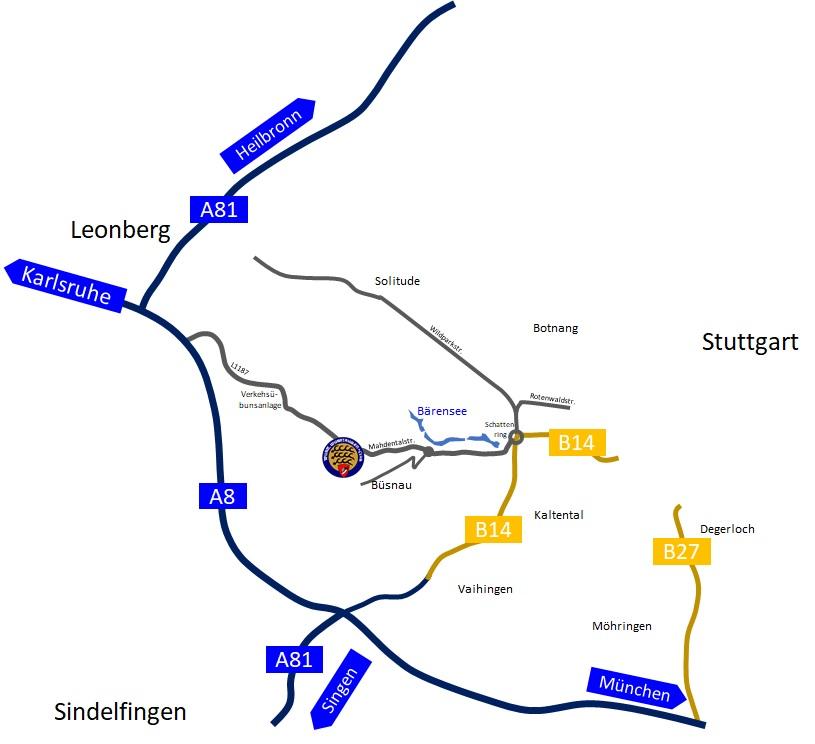 Anfahrtsskizze WWC-Stuttgart